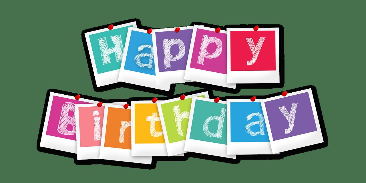 יום הולדת באותיות