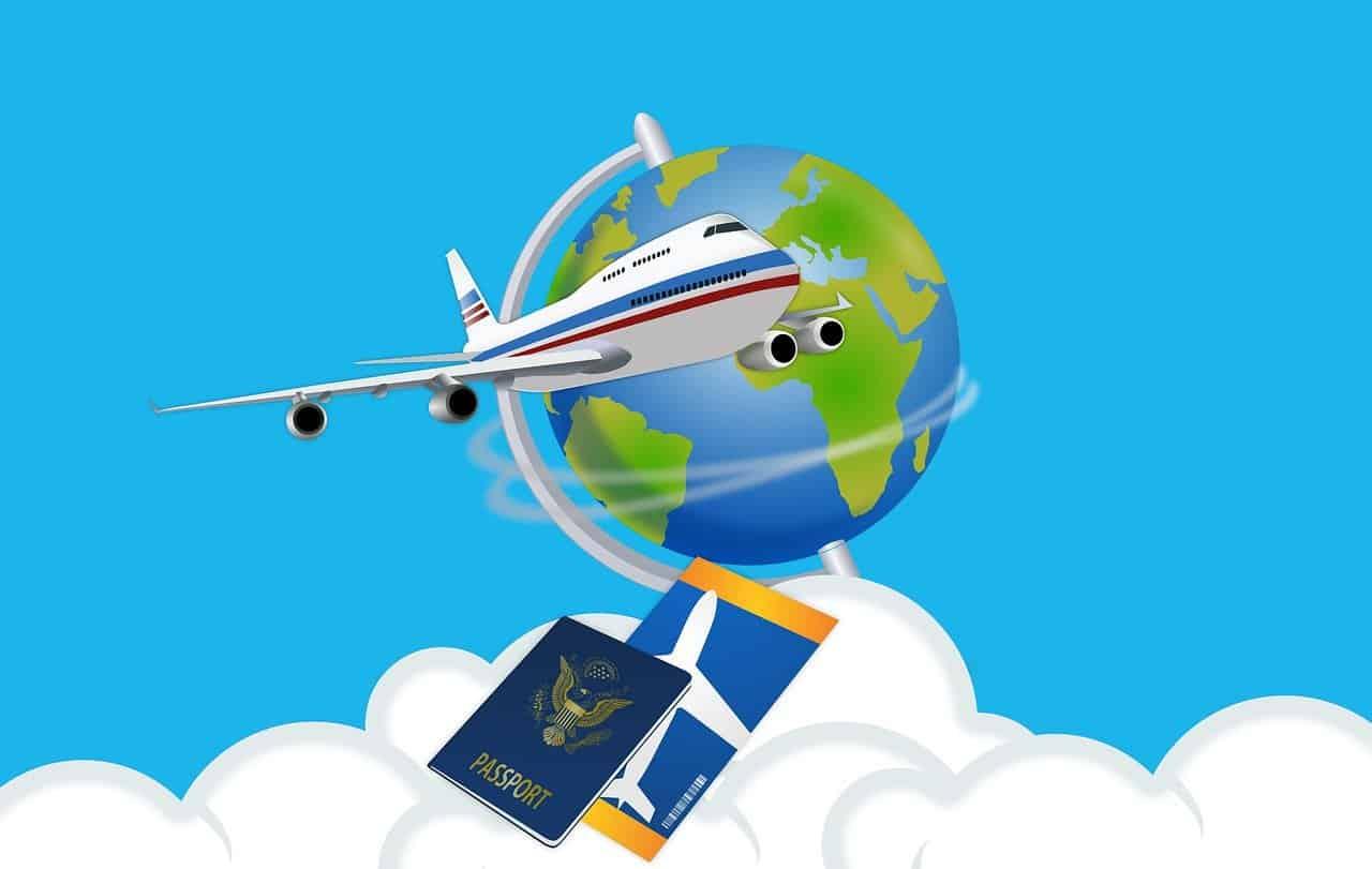 מטוס וכרטיס טיסה